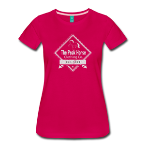 Women's The Peak Horse Diamond T-Shirt - dark pink