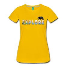 Load image into Gallery viewer, Women's Explore T-Shirt - sun yellow