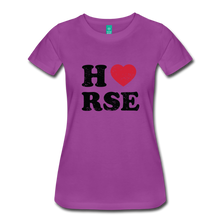 Load image into Gallery viewer, Women's Horse Large Letters T-Shirt - light purple