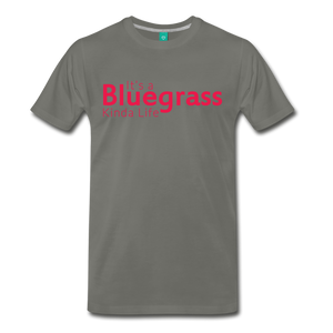 Men's Bluegrass Kinda Life T-Shirt - asphalt