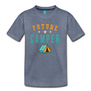 Kids' Future Camper T-Shirt - heather blue
