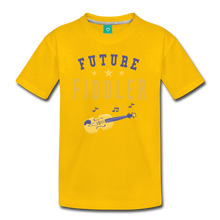 Load image into Gallery viewer, Kids' Future Fiddler T-Shirt - sun yellow