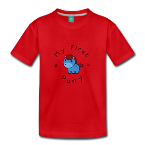 Toddler My First Pony T-Shirt (blue) - red