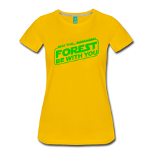 Load image into Gallery viewer, Women's May the Forest be with You T-Shirt - sun yellow