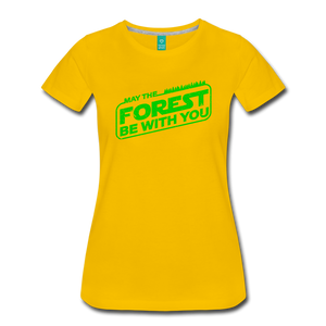 Women's May the Forest be with You T-Shirt - sun yellow