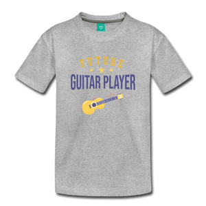Toddler Guitar Player T-Shirt - heather gray