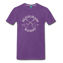 Load image into Gallery viewer, Men's Bluegrass Banjo T-Shirt - purple
