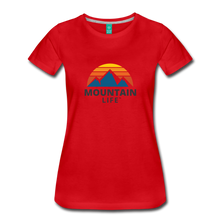Load image into Gallery viewer, Women's Mountain Life Shirt - red