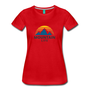 Women's Mountain Life Shirt - red