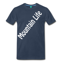 Load image into Gallery viewer, Men's Diagonal Mountain Life T-Shirt - navy