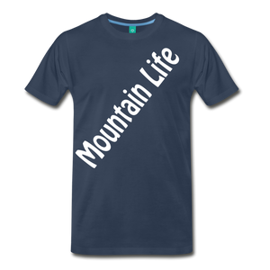 Men's Diagonal Mountain Life T-Shirt - navy
