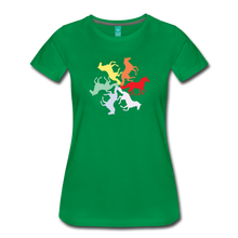 Load image into Gallery viewer, Women's Rainbow Horse Circle T-Shirt - kelly green