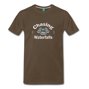 Men's Chasing Waterfalls T-Shirt - noble brown