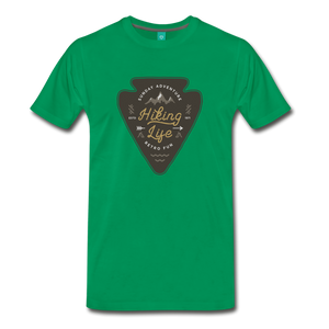 Men's Hiking Life T-Shirt - kelly green