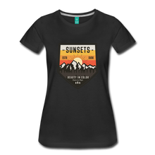 Load image into Gallery viewer, Women's Sunset T-Shirt - black