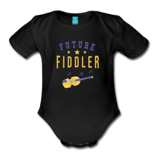 Load image into Gallery viewer, Future Fiddler Baby Bodysuit - black