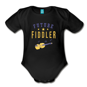 Future Fiddler Baby Bodysuit - black