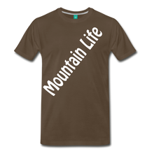 Load image into Gallery viewer, Men's Diagonal Mountain Life T-Shirt - noble brown