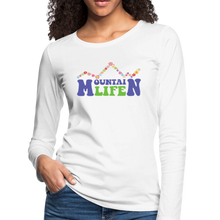 Load image into Gallery viewer, Women's 60s Mountain Life Long Sleeve Shirt - white