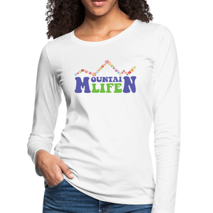 Women's 60s Mountain Life Long Sleeve Shirt - white