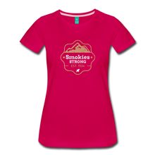 Load image into Gallery viewer, Women's Smokies Strong T-Shirt - dark pink