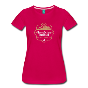 Women's Smokies Strong T-Shirt - dark pink