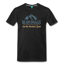 Load image into Gallery viewer, Men's Bluegrass Mountains Speak T-Shirt - black