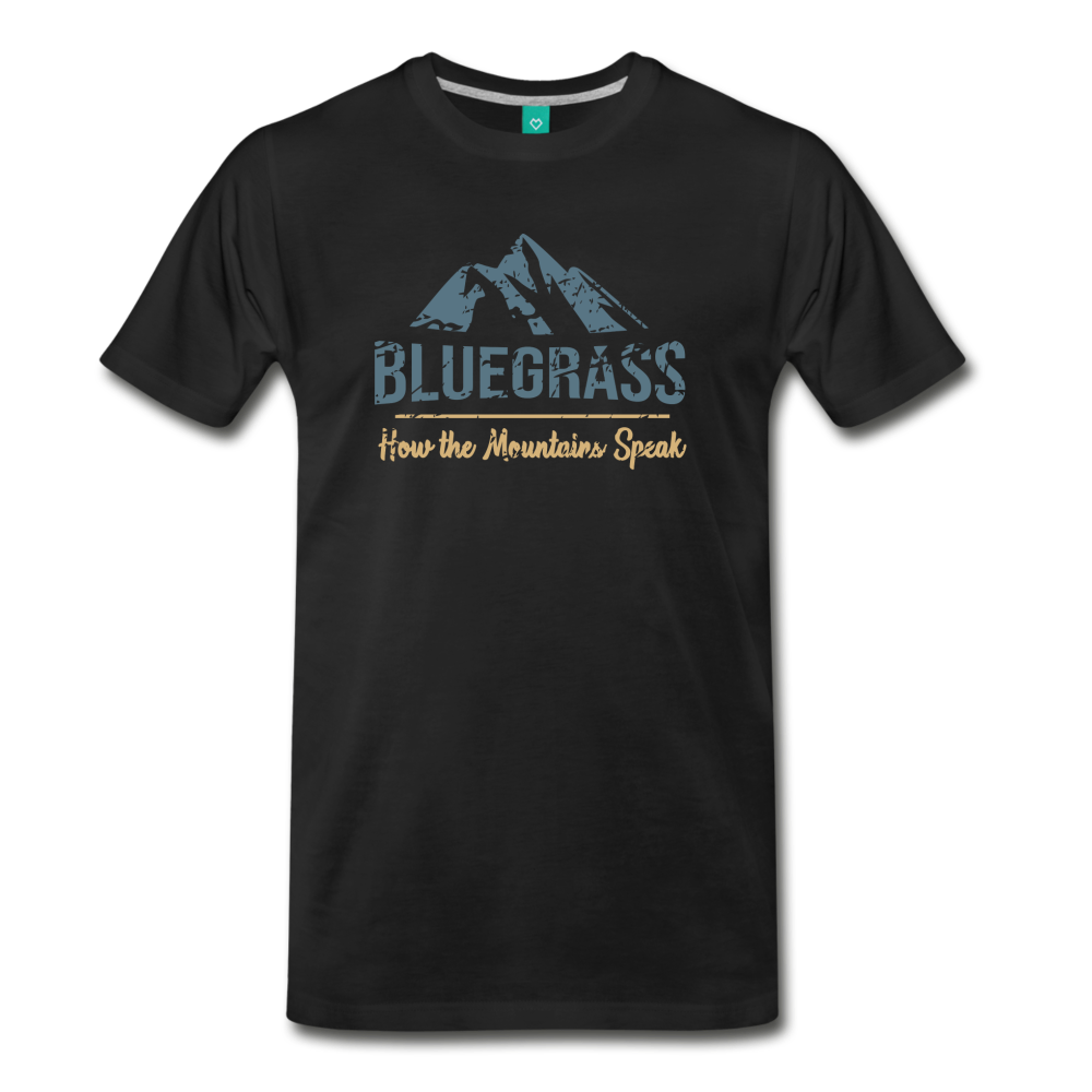 Men's Bluegrass Mountains Speak T-Shirt - black