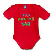 Load image into Gallery viewer, Future Mountain Climber Baby Bodysuit - red