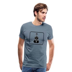 Men's Upright Bass  Icon T-Shirt - steel blue