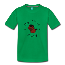 Load image into Gallery viewer, Toddler My First Pony T-Shirt (bown) - kelly green