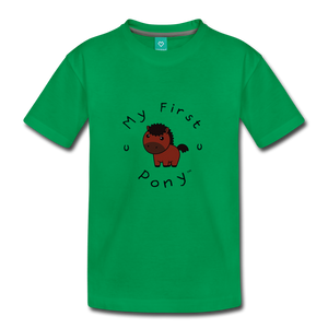 Toddler My First Pony T-Shirt (bown) - kelly green