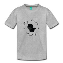 Load image into Gallery viewer, Toddler My First Pony T-Shirt (black) - heather gray