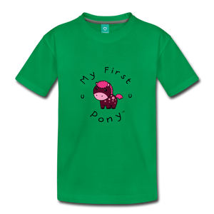 Toddler My First Pony T-Shirt (magenta) - kelly green