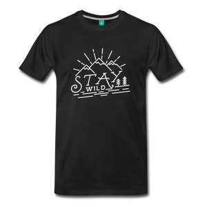 Men's Stay Wild T-Shirt (white) - black