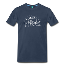 Load image into Gallery viewer, Men's Wanderlust T-Shirt (white) - navy
