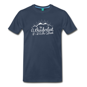 Men's Wanderlust T-Shirt (white) - navy