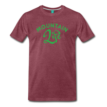 Load image into Gallery viewer, Men's Mountain Life (script) T-Shirt - heather burgundy