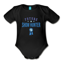 Load image into Gallery viewer, Future Shown Hunter Baby Bodysuit - black