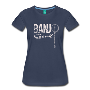 Women's Banjo Girl T-Shirt - navy