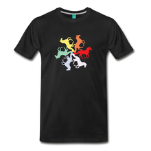 Load image into Gallery viewer, Men's Rainbow Horse Circle T-Shirt - black