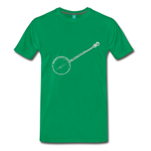 Load image into Gallery viewer, Men's Banjo T-Shirt - kelly green
