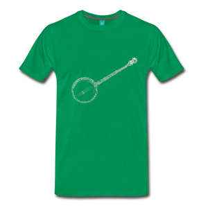 Men's Banjo T-Shirt - kelly green