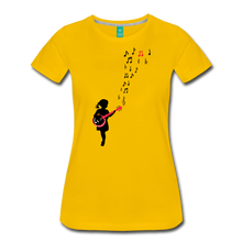 Load image into Gallery viewer, Women's Girl with a Red Banjo T-Shirt - sun yellow