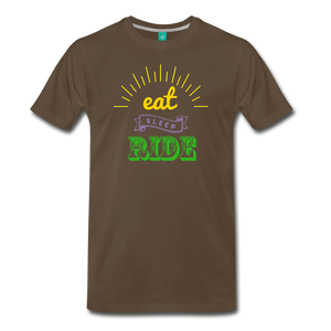Men's Eat Sleep Ride T-Shirt - noble brown