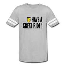 Load image into Gallery viewer, Men's Vintage Sport Have a Great Ride T-Shirt - heather gray/white