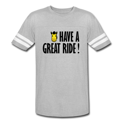 Men's Vintage Sport Have a Great Ride T-Shirt - heather gray/white