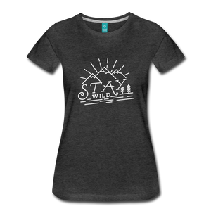 Women's Stay Wild T-Shirt (white) - charcoal gray
