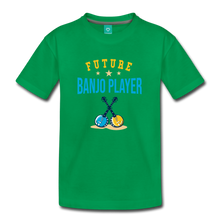 Load image into Gallery viewer, Kids' Future Banjo Player T-Shirt - kelly green