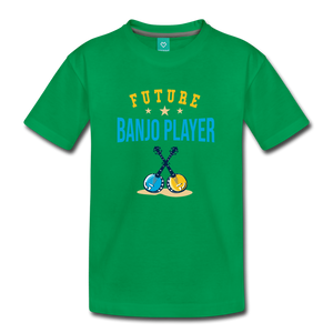 Kids' Future Banjo Player T-Shirt - kelly green